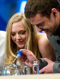 Amanda Seyfried watched Justin Timberlake use a dropper.