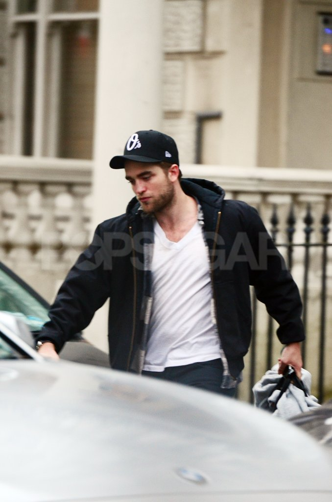 Robert Pattinson left his London home.
