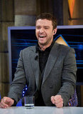 Justin Timberlake laughed out loud on a TV show in Spain.