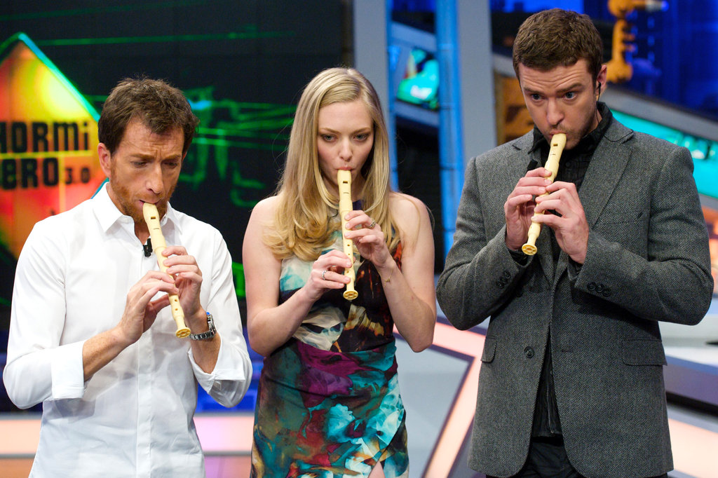 Justin Timberlake and Amanda Seyfried played the recorder together.