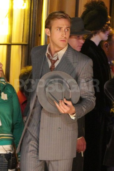 Ryan Gosling was on the LA set of Gangster Squad.