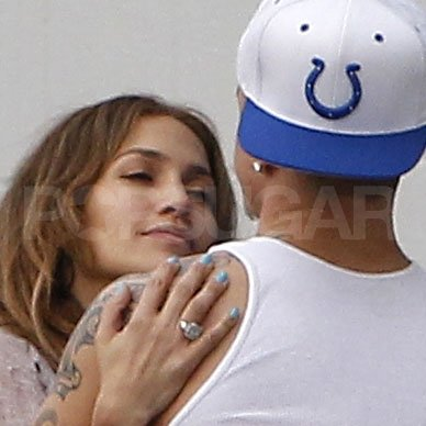 Jennifer Lopez gazed at Casper Smart.