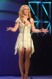 Britney Spears got in front of the American Music Awards audience in a skimpy dress in 2003.