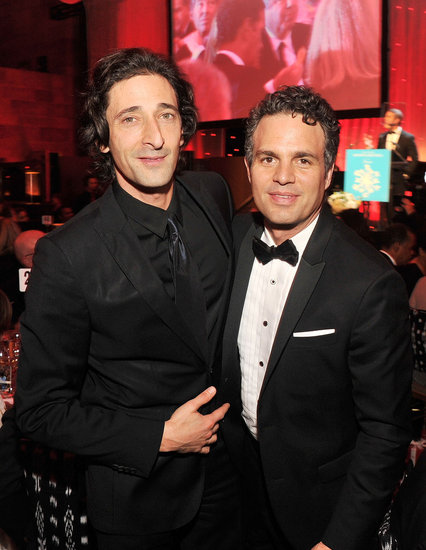 Adrien Brody and Mark Ruffalo gave different takes on tuxes at the 2011 Snowflake ball in NYC.