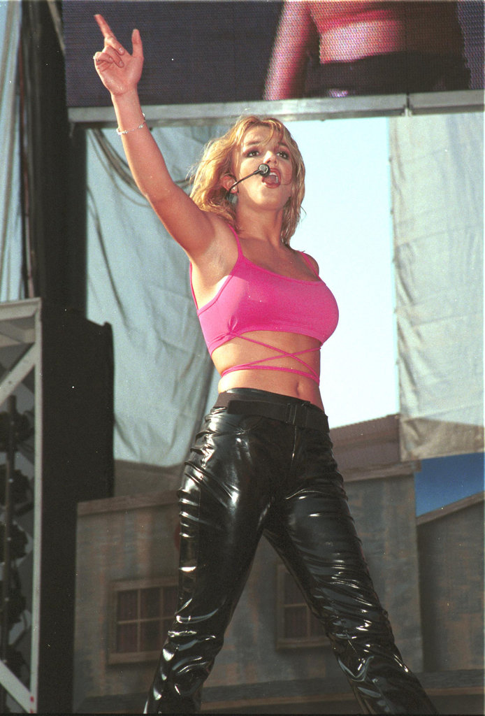 Britney heated up the 1999 Wango Tango concert in LA.