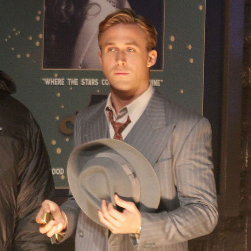 Ryan Gosling in a Suit Filming Gangster Squad Pictures