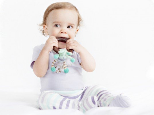 Finn & Emma Teething Ring Rattle ($32)