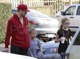 Ryan Phillippe in LA with his kids Ava and Deacon.