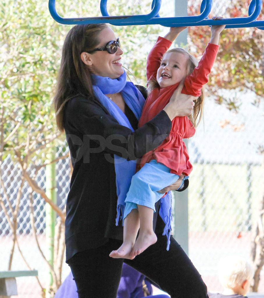 Jennifer Garner with Seraphina at the park.