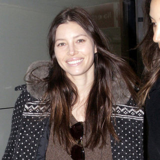Jessica Biel Pictures at Heathrow Airport