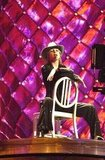 Britney Spears took a seat on stage during rehearsals for the 2000 MTV VMAs in NYC.