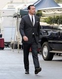 Jon Hamm on the Mad Men set.