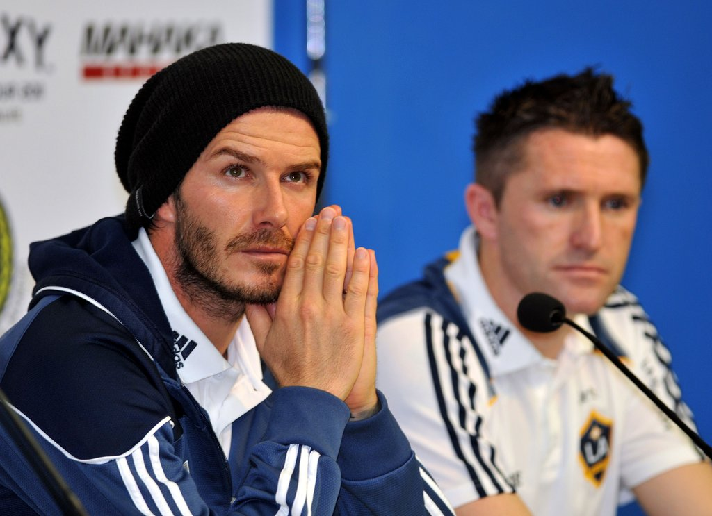 David Beckham participated in a press conference in Jakarta on Nov. 30.