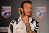 David Beckham was at a press conference in Manila on Dec. 1.
