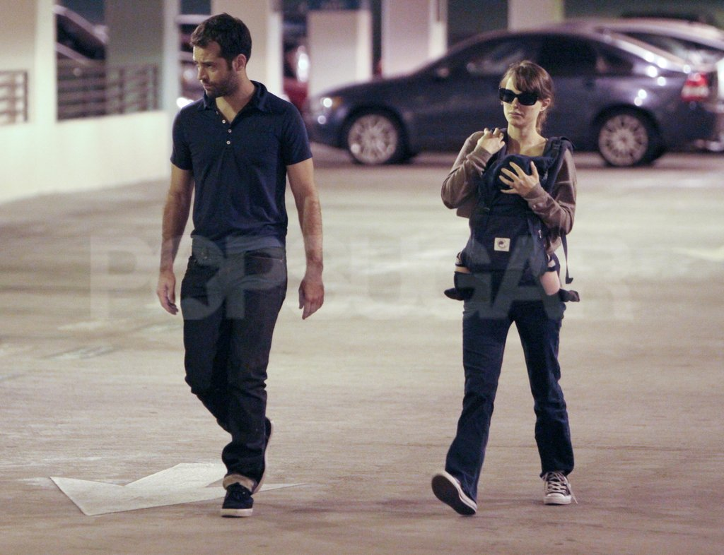 Natalie Portman carried Aleph in a carrier while out in LA with Benjamin Millepied.