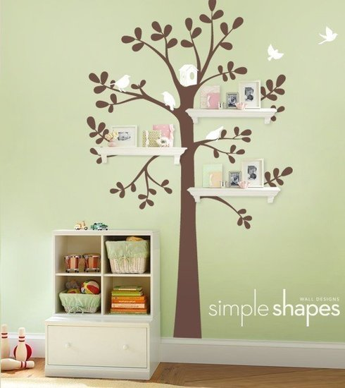 Shelving Tree Decal With Birds ($88)