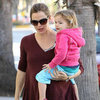Pregnant Jennifer Garner With Seraphina & Dad Bill Pictures
