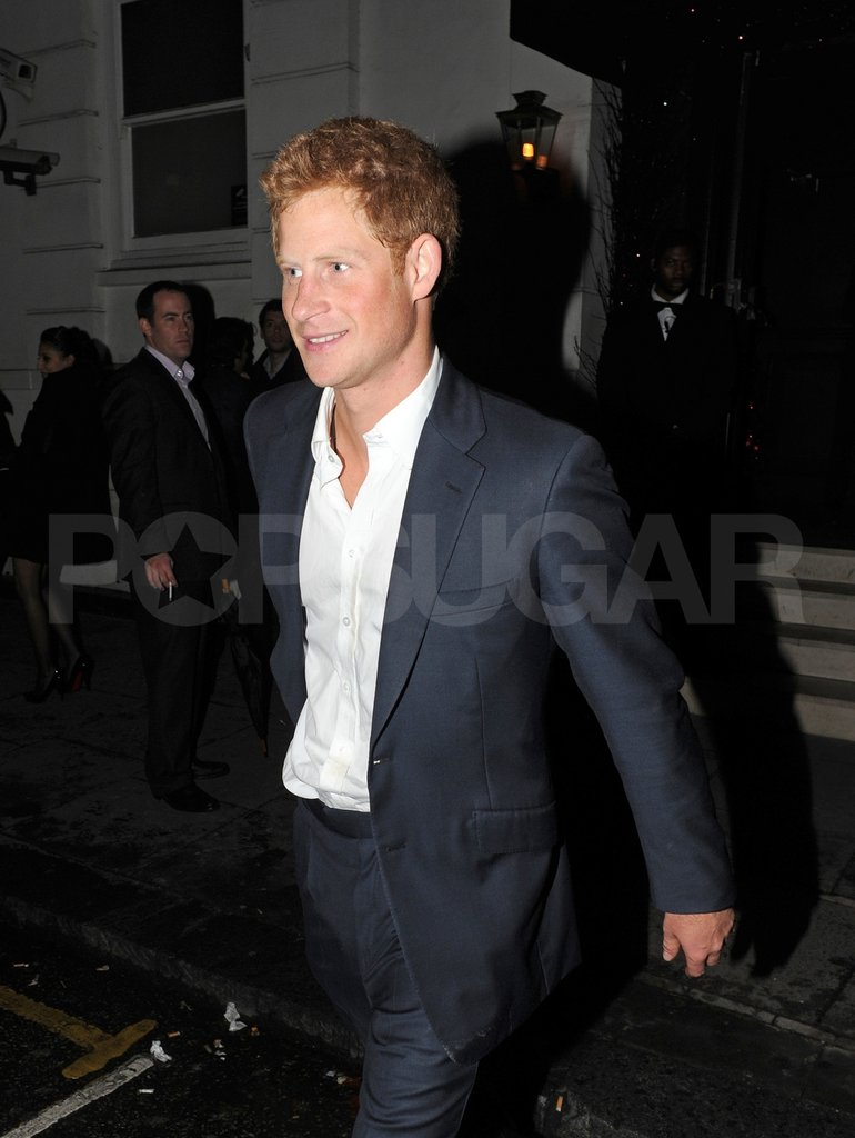 Prince Harry headed home.