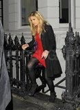 Chelsy Davy left London's Brompton club.