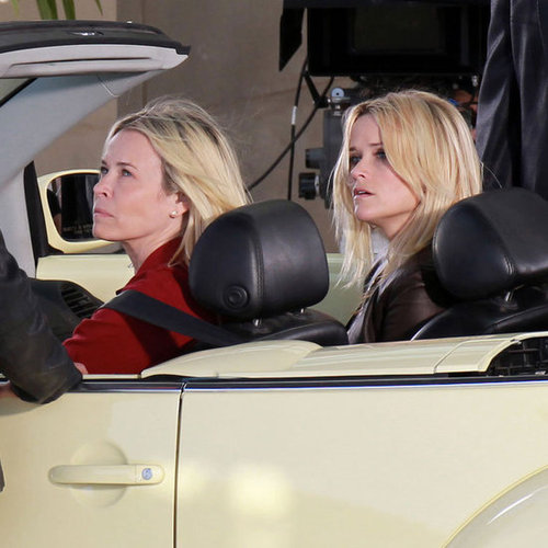 Reese Witherspoon and Chelsea Handler Filming Pictures