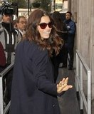 Jessica Biel waved to fans outside BBC 1 Radio in London.