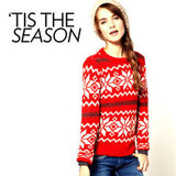 "Attending an ""ugly sweater"" party? Impress your friends with your updated take on the tacky trend."