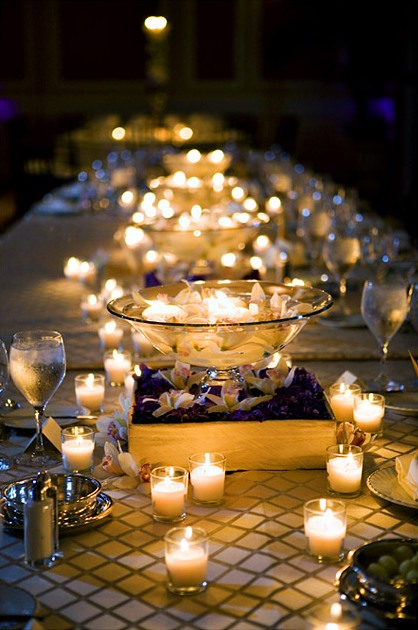 wedding reception cheap centerpieces
