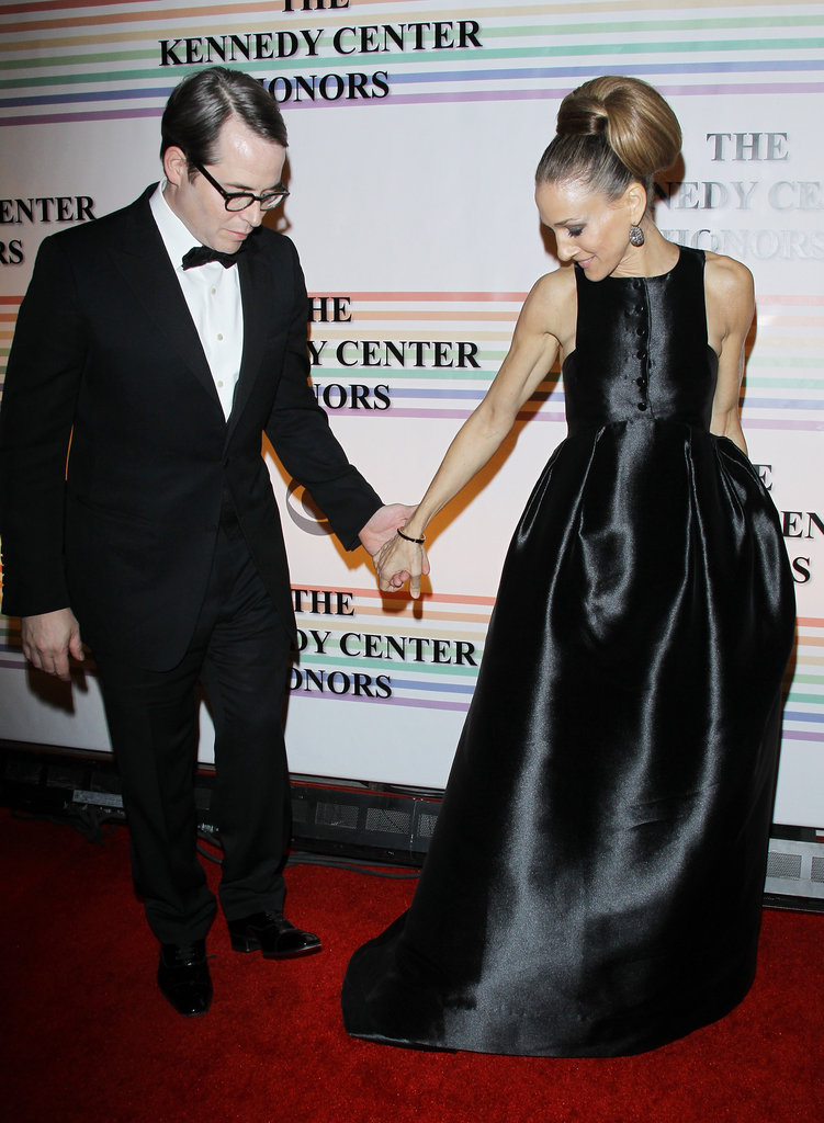 Sarah Jessica Parker led Matthew Broderick on the red carpet.