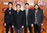 The Eli Young Band arriving at the American Country Awards in Las Vegas.