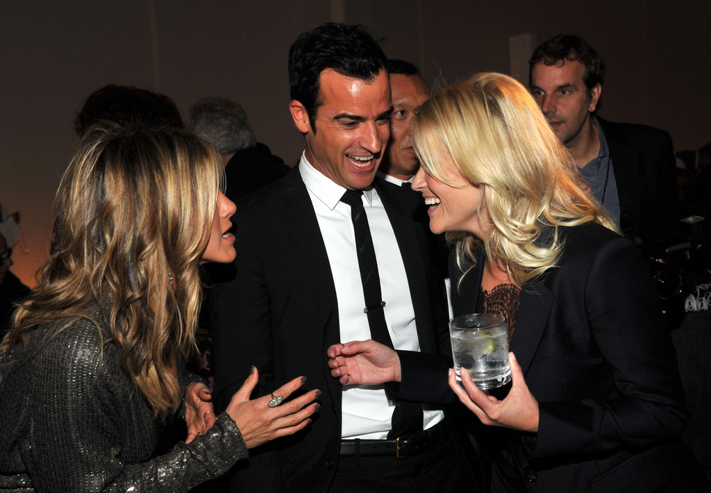 Jennifer and Justin chatted with Reese Witherspoon at Elle's 18th Annual Women in Hollywood Tribute in October 2011.