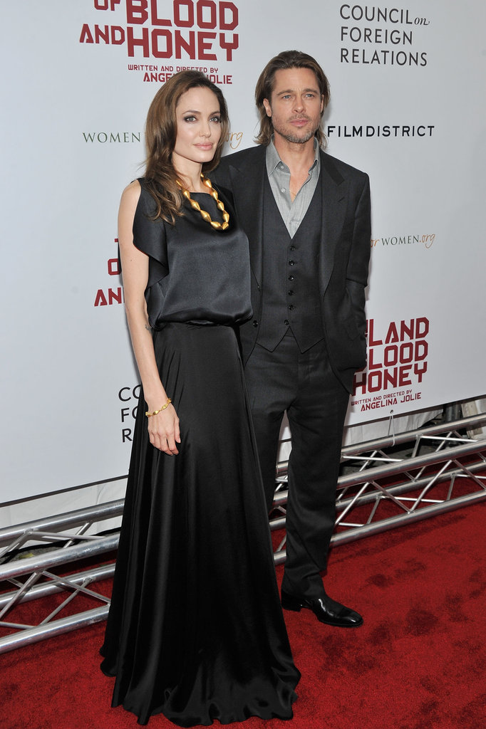 Brad Pitt joined Angelina Jolie on the red carpet in NYC.