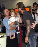 David Beckham visited Melbourne's Children's Hospital.