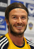 David Beckham joined the Galaxy in a press conference.