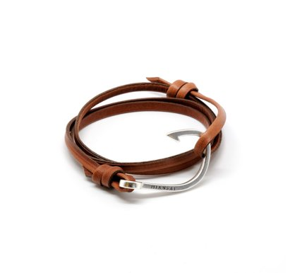 Brown Leather Hook Bracelet