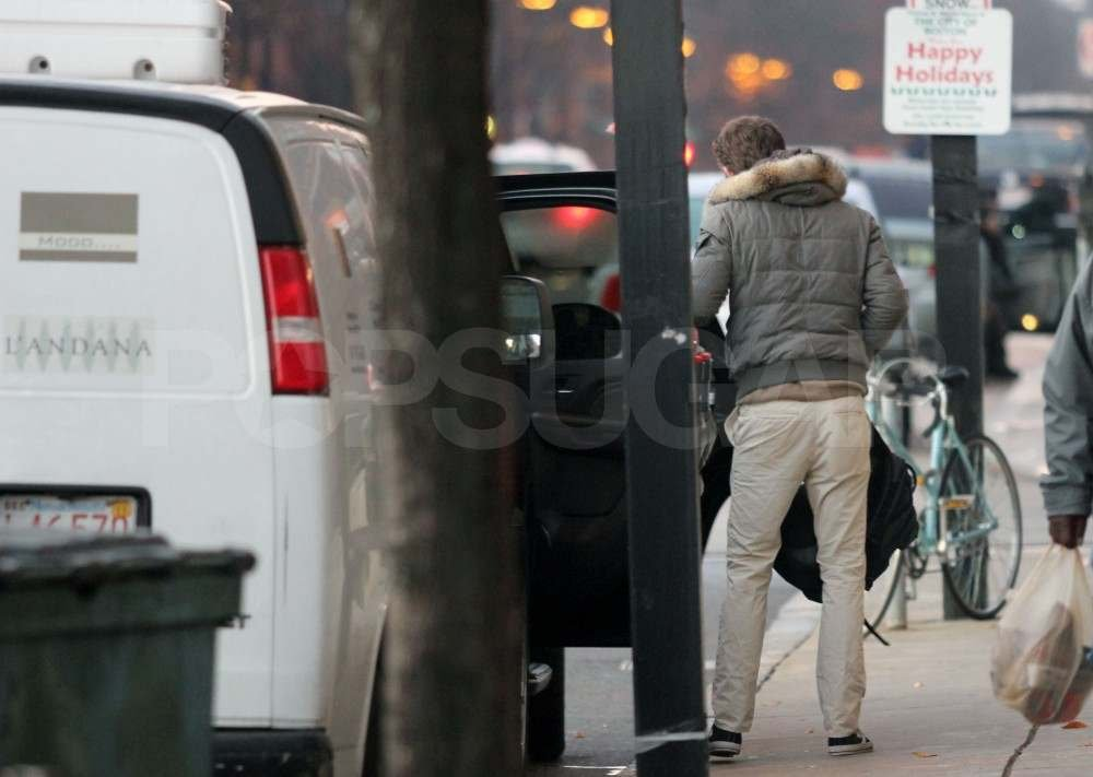 Ryan Reynolds with Blake Lively in Boston.