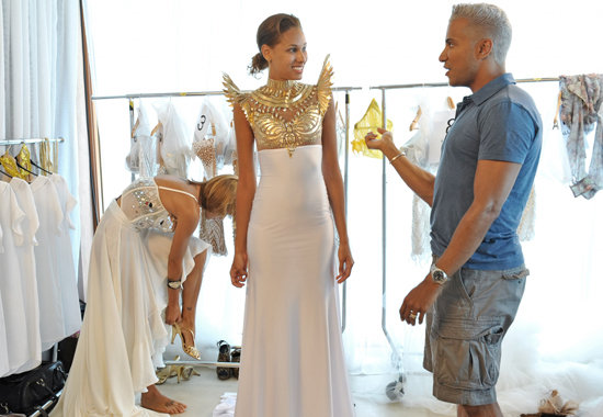 Angelea and Jay Manuel on America's Next Top Model.  Photo courtesy of The CW