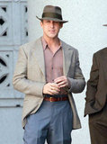 Ryan Gosling was in LA shooting Gangster Squad.