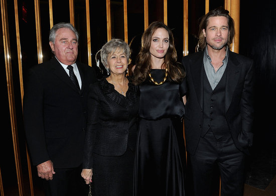 Angelina Jolie, Jane Pitt, Bill Pitt, and Brad Pitt at the Top of the Standard.