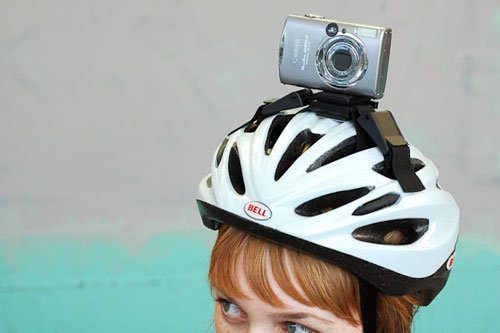 Happy helmet bike camera mount ($22)