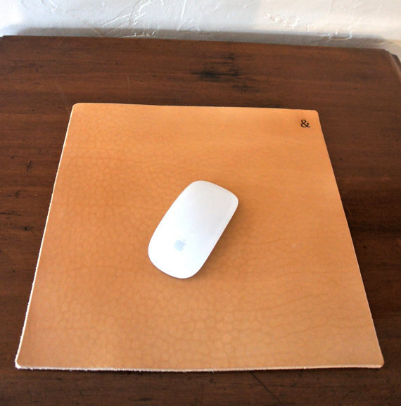 Leather desktop mouse pad ($50)