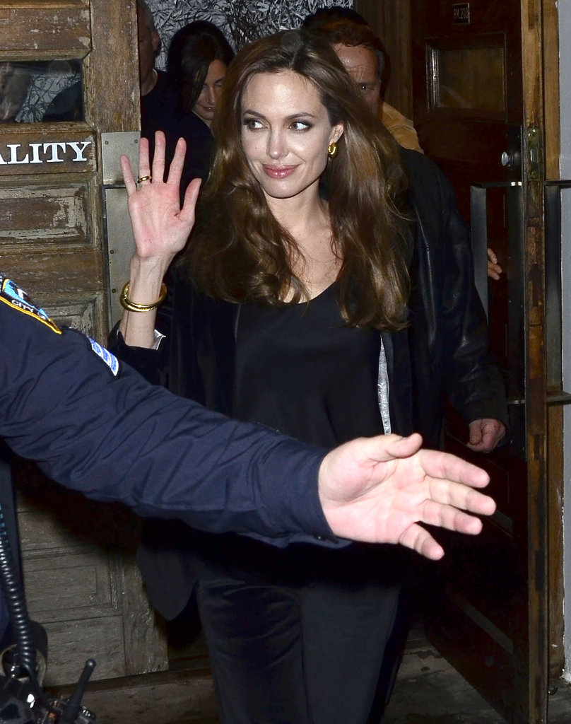 Angelina Jolie was pretty in black.