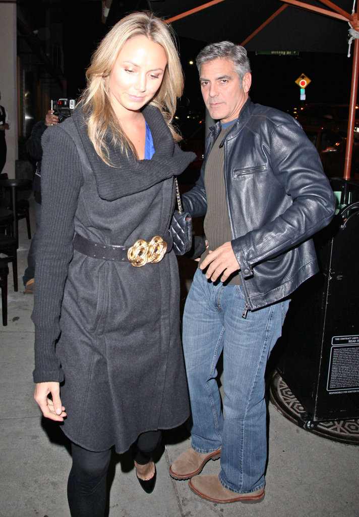George Clooney and Stacy Keibler had dinner together in LA.