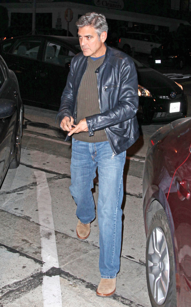 George Clooney left Craig's restaurant in LA.