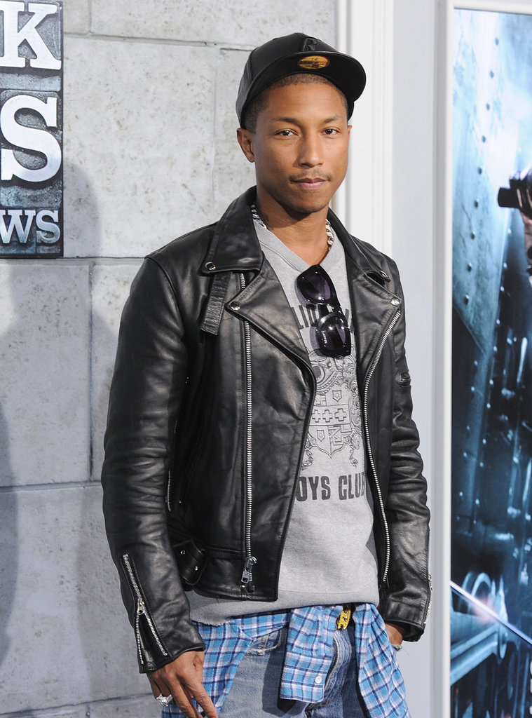 Pharell Williams came out to see the latest installment of Sherlock Holmes.