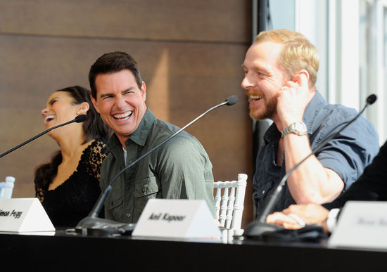 Simon Pegg made Tom Cruise and Paula Patton laugh.