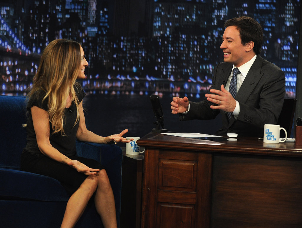 Sarah Jessica Parker and Jimmy Fallon chatted.