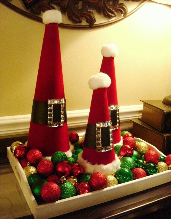 Santa Decorative Cones