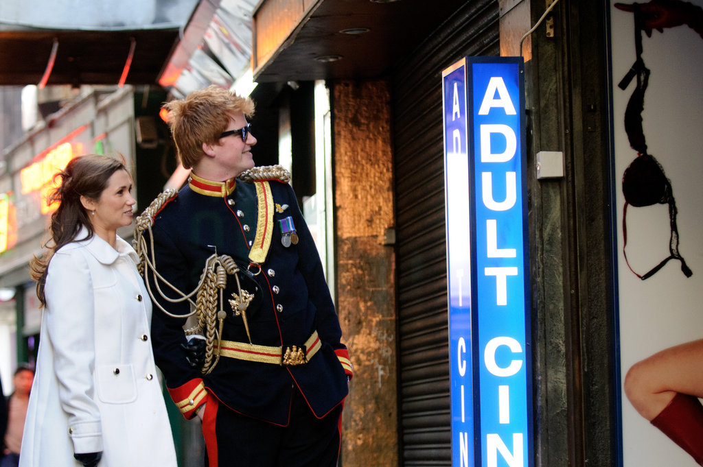 Prince Harry look-alike is dressed sharp in his uniform.