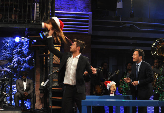 Zac Efron threw doll heads with Jimmy Fallon.