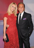 Claire Danes and Valentino Garavani got serious for the cameras.